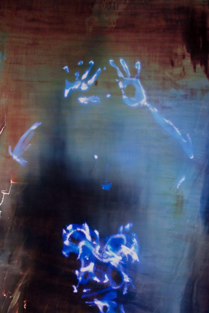 "AURA (Jane #3) - 2016<br> Detail of a full body Kirlian ""aura"" photograph."