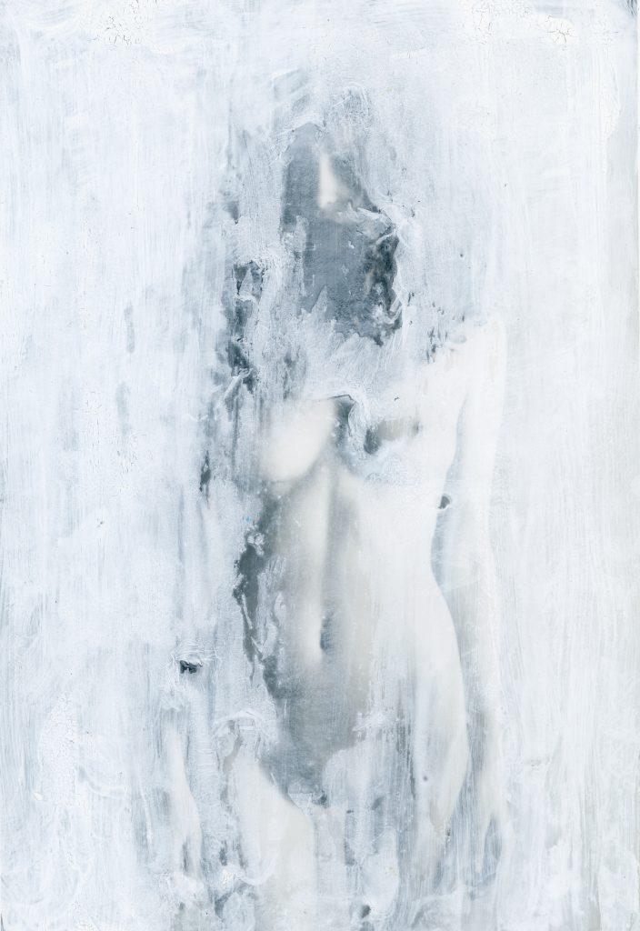 Hyperborrean Portrait <br> Gouache over silver gelatin print